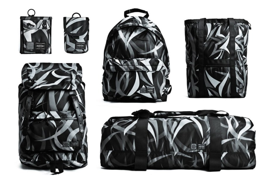 Image of CLOT x Head Porter 2012 Alienegra Camo Bag Collection