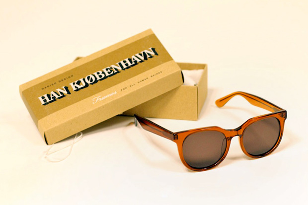 Image of Han Kjobenhaven Paul Senoir Transparent Brown Sunglasses