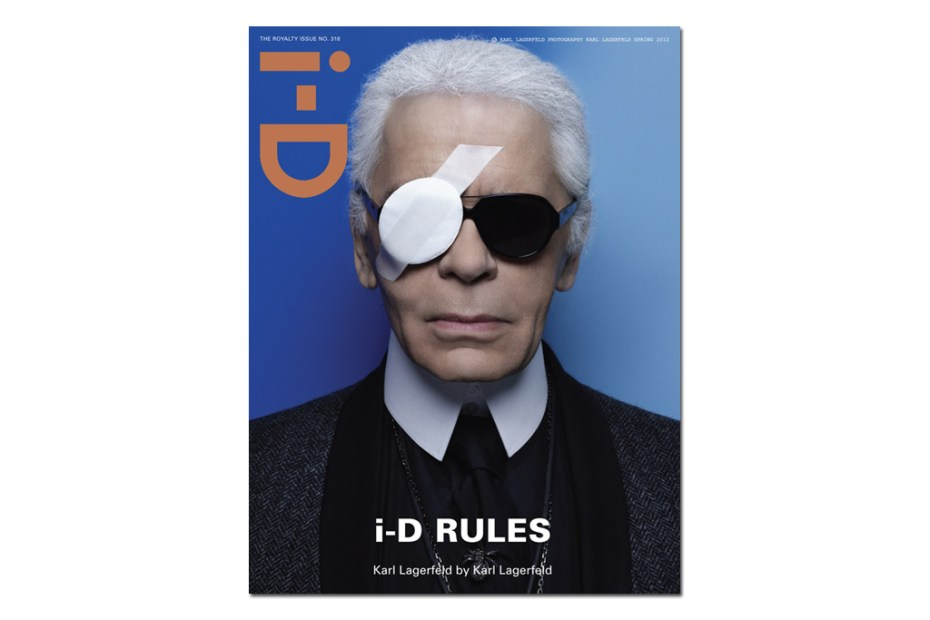 Image of i-D Magazine 2012 Spring Issue featuring Karl Lagerfeld