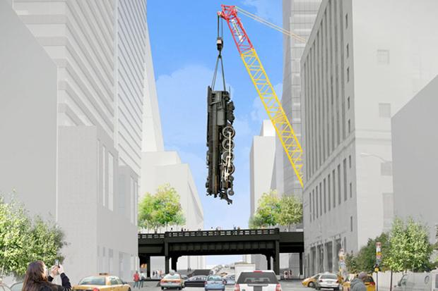 Image of Jeff Koons' $25 Million Locomotive a Reality?
