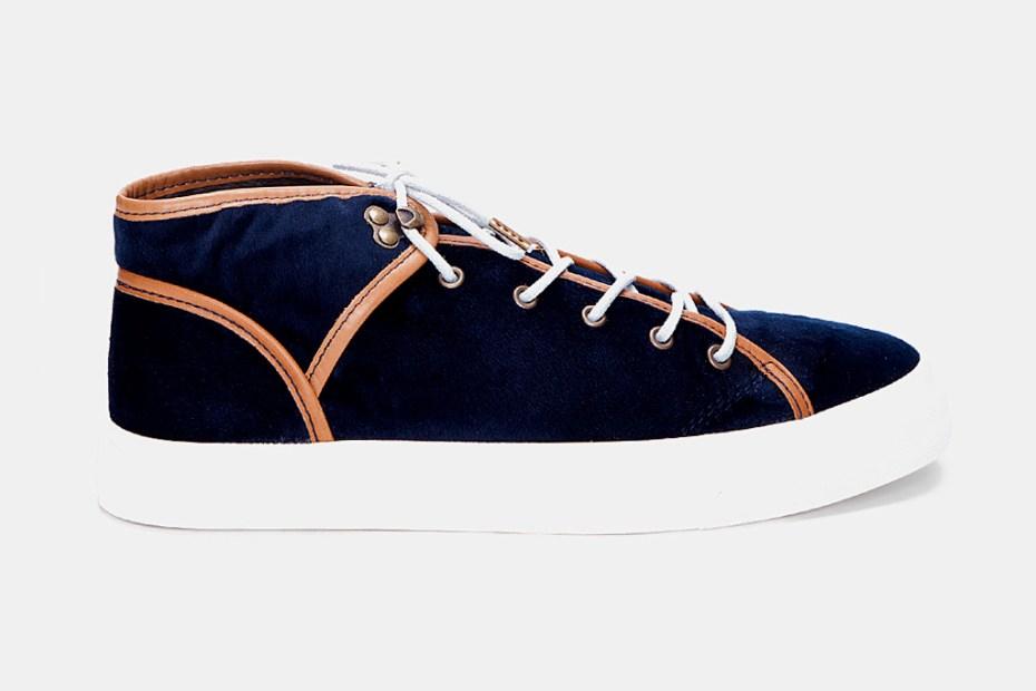 """Image of Ksubi Lewis Velvet Sneaker """"Navy"""""""