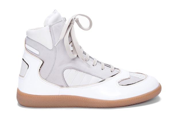 Image of Maison Martin Margiela Hi-Top Sneaker White/Grey