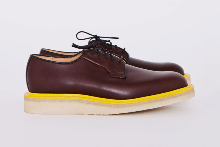 "Image of Mark McNairy for Tres Bien Shop ""Brown Waxy Wholecut"" Shoe"