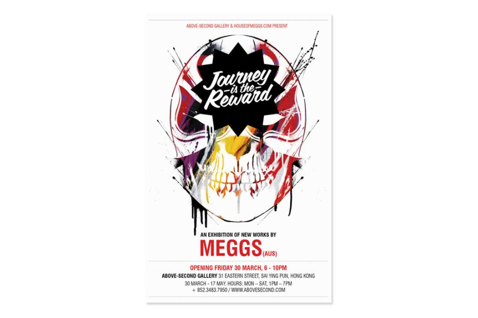"""Image of MEGGS """"Journey is the Reward"""" Exhibition @ Above Second Gallery"""