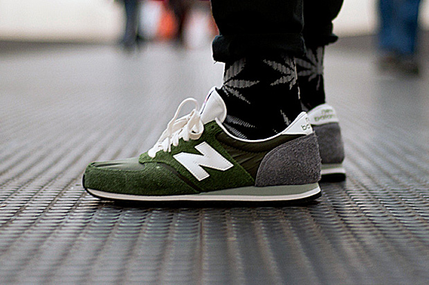 "Image of New Balance Made in England U420UO ""Forest Green/Grey"""