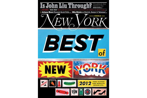 "Image of New York Magazine ""Best of New York 2012"" Issue"