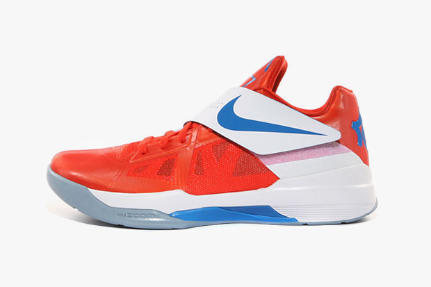 Image of Nike Zoom KD IV Team Orange/Photo Blue