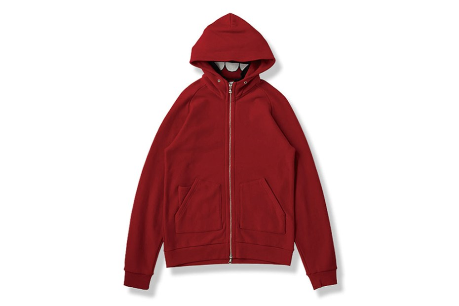 Image of OriginalFake INSIDE RIB STAND COLLAR Zip Hoody