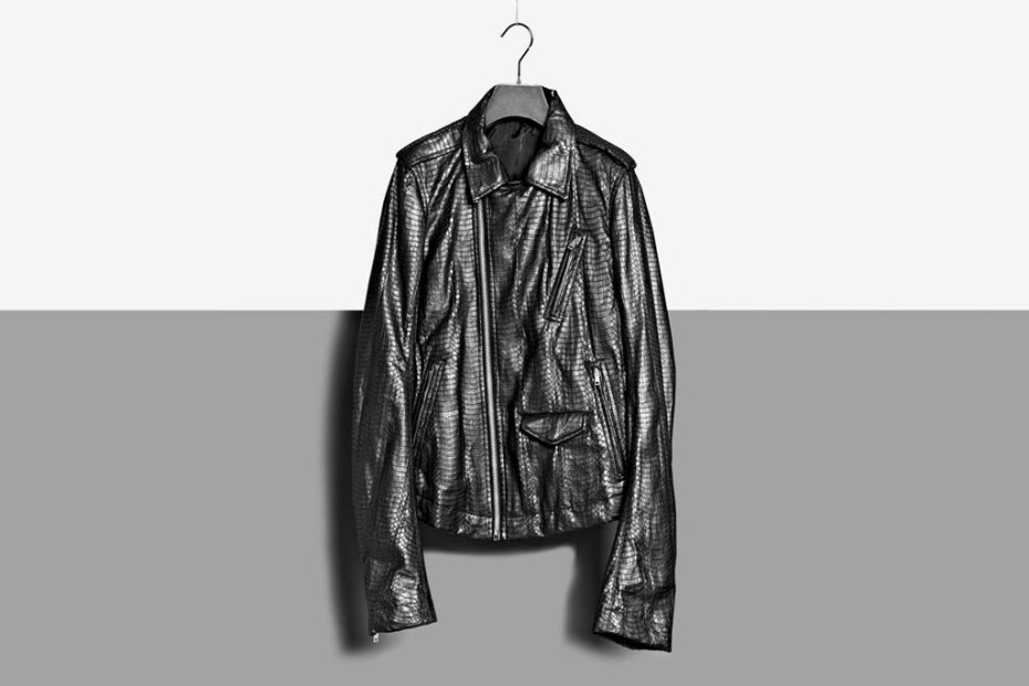 Image of Rick Owens 2012 Spring/Summer Water Python Leather Biker Jacket