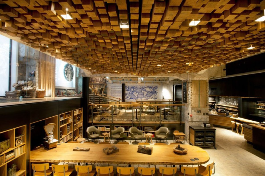 "Image of Starbucks Amsterdam ""The Bank"" Concept Store"