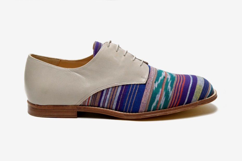 Image of T&F Slack Shoemakers London oki-ni Exclusive Ikat Denver Derby Shoe