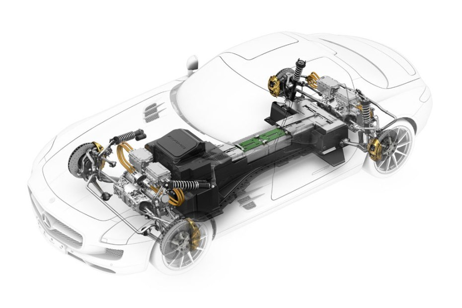 Image of The Inner Workings of the Mercedes-Benz SLS AMG E-Cell
