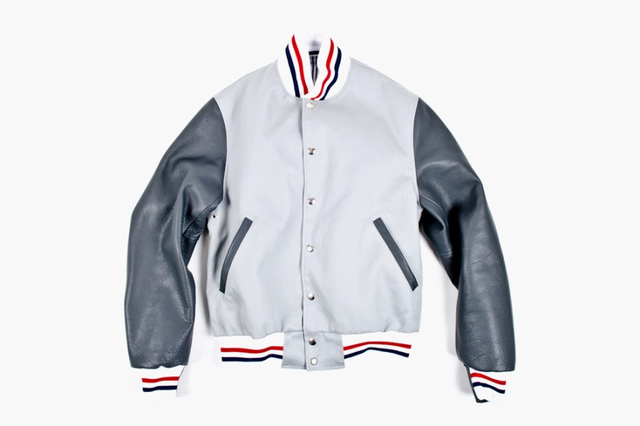 Image of Thom Browne Summer Letterman Jacket