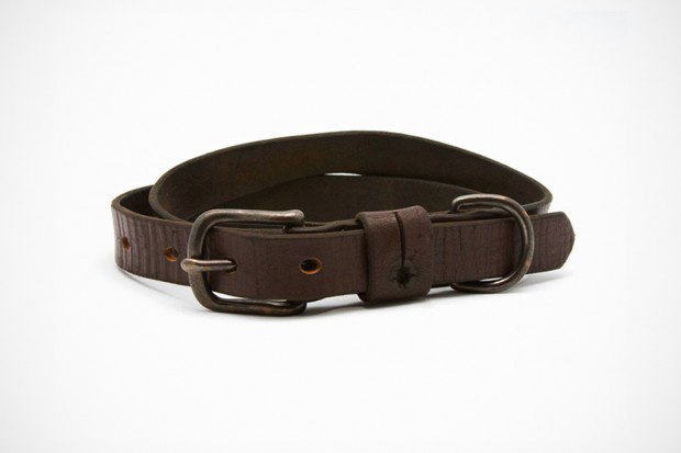 Image of UNIS Vintage Leather Strapping Belt