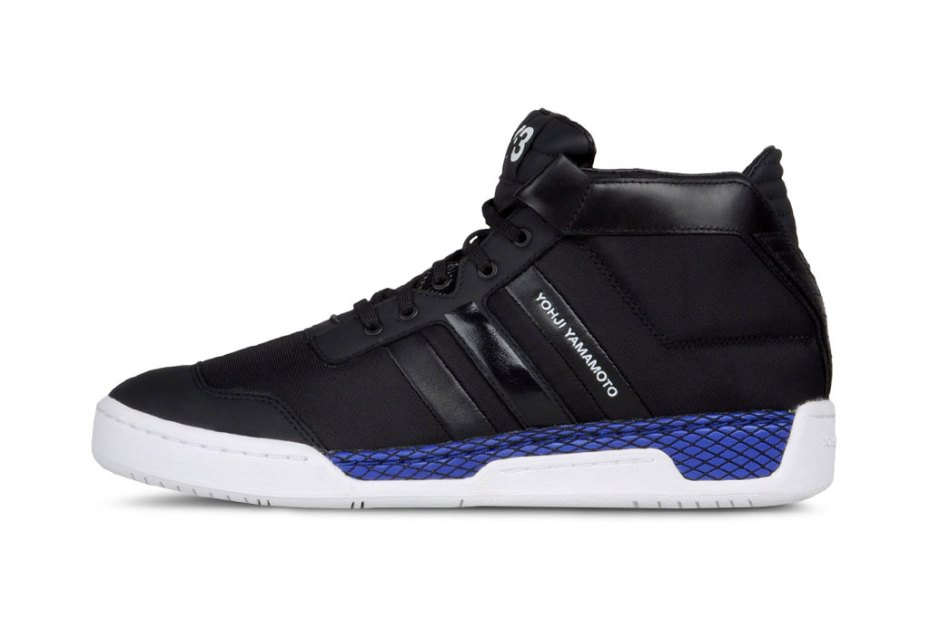 Image of Y-3 Courtside Black/Royal Blue