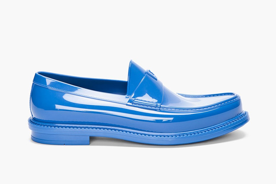 Image of Yves Saint Laurent Cobalt Show Loafers