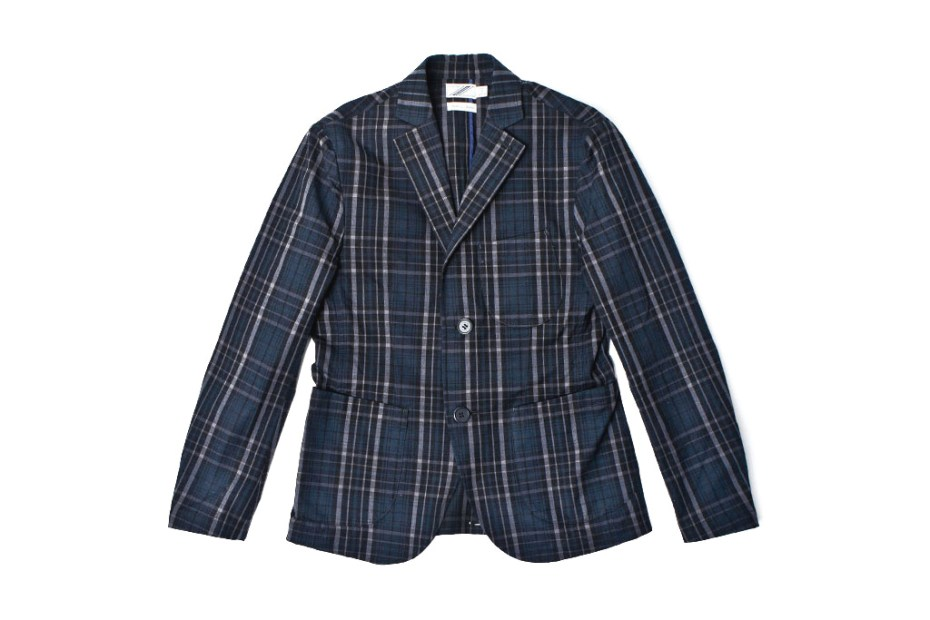 Image of 02DERIV. 2012 Spring/Summer STUDENT JACKET-COTTON DARK CHECK