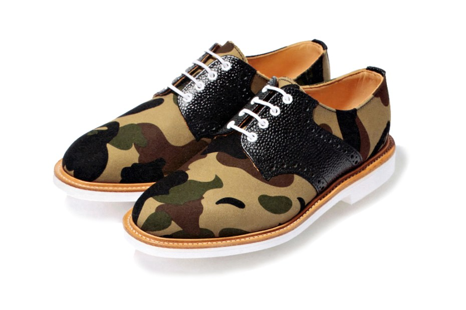 Image of A Bathing Ape x Mark McNairy 1st Camo Canvas Saddle Shoes