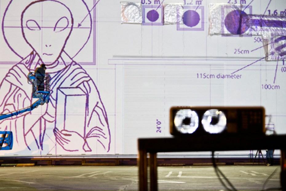 Image of Cai Guo Qiang Sets Up Aliens and Explosives at the MOCA