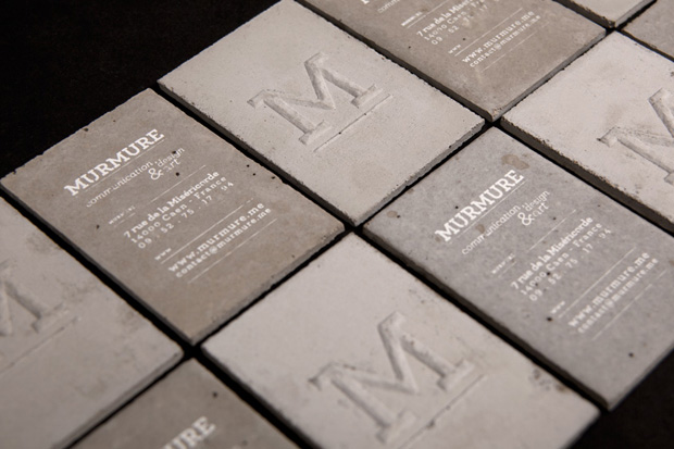 Image of Concrete Business Cards by Murmure