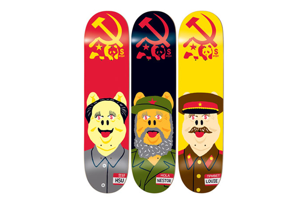 Image of Enjoi Skateboarding Communist Pigs Series Decks