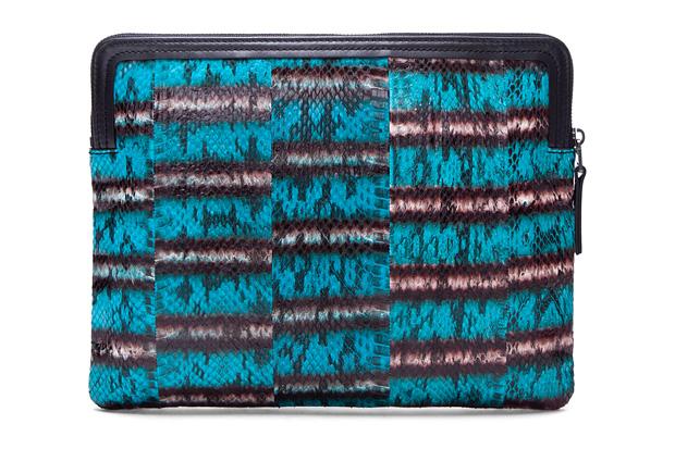 Image of Lanvin Turquoise Snakeskin Wallet