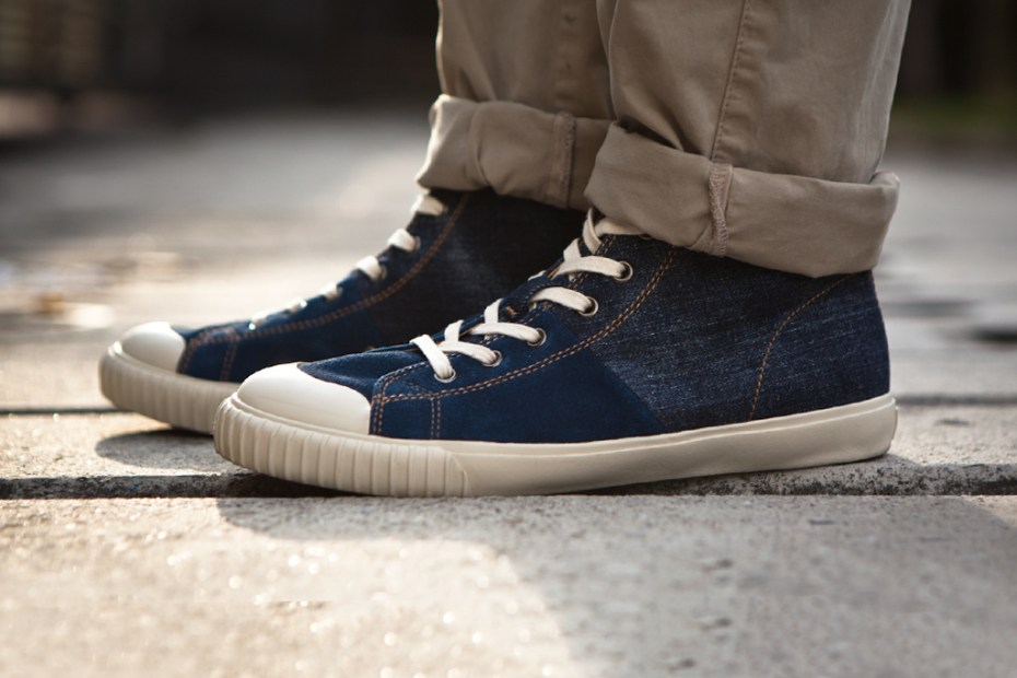 Image of Levi's Footwear 2012 Spring Cone Denim Vulcanized Sneaker Hi