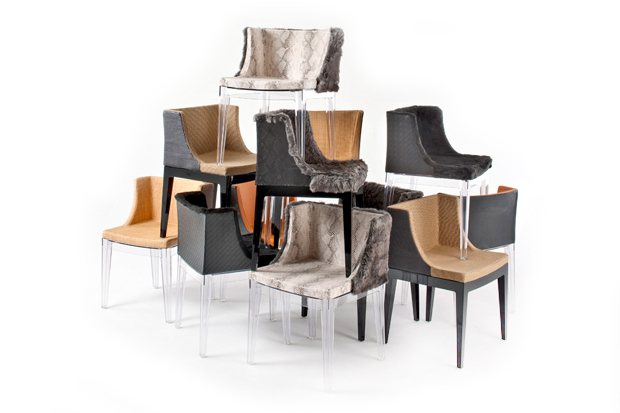 Image of Mademoiselle Chairs for Kartell by Philippe Starck + Lenny Kravitz