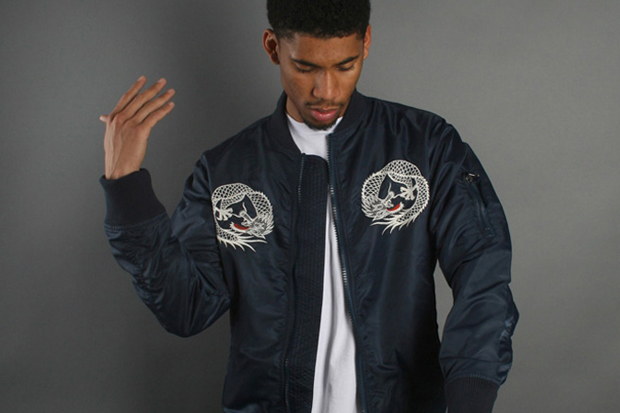 Image of maharishi Water Dragon Tour Fitted MA-1 Jacket
