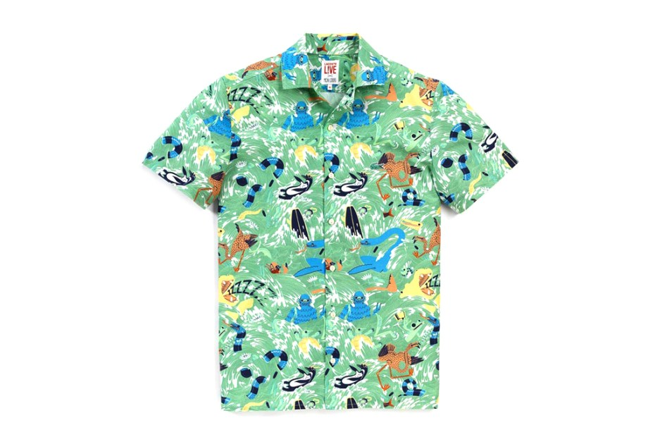 Image of Micah Lidberg x Lacoste L!VE Animal Illustration Shirts