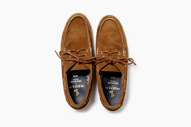 Image of nonnative x REGAL GORE-TEX 2L Cow Leather Dweller Deck Shoe