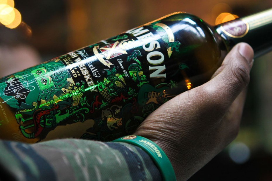 Image of Paul Daly x Jameson Whiskey Limited Edition Bottle Launch