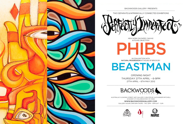 "Image of PHIBS ""Perfectly Imperfect"" & Beastman ""Natural Progression"" Connected Exhibition"