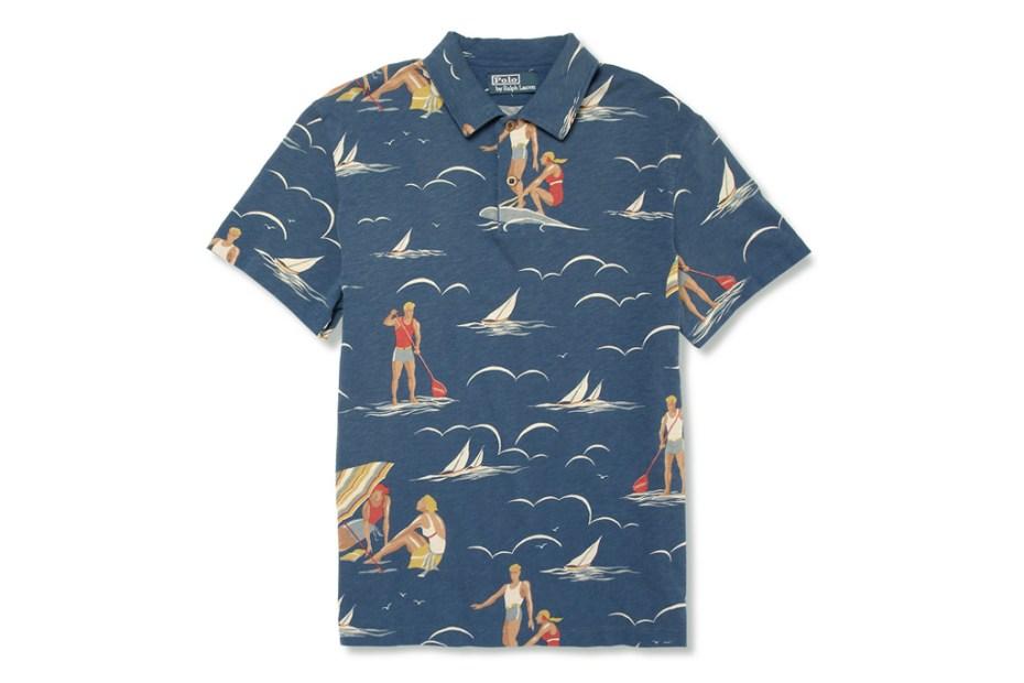 Image of Polo Ralph Lauren Surf Print Polo Shirt