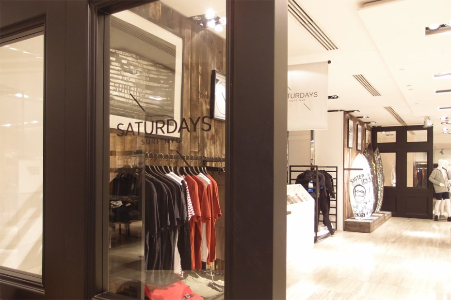 Image of Saturdays Surf NYC Pop-up Store @ Lane Crawford ifc mall