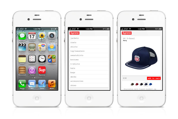 Image of Supreme Announces iPhone Website