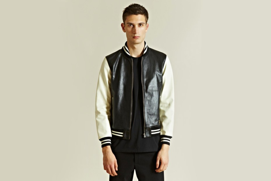 Image of WACKO MARIA Leather Stadium Jacket