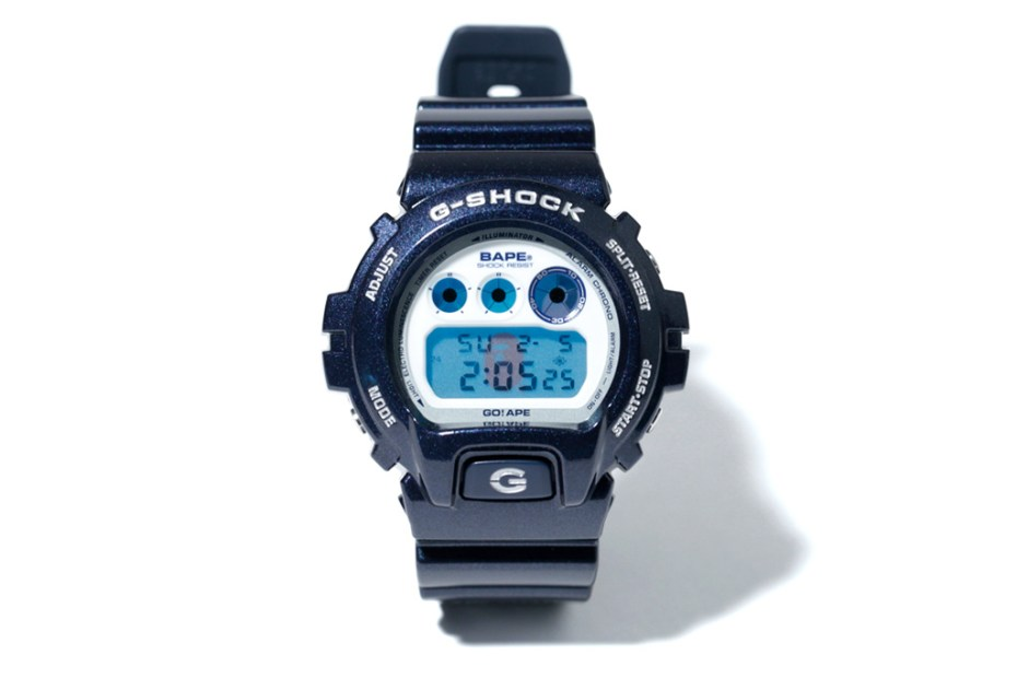 Image of A Bathing Ape x Casio G-Shock DW-6900 Metallic Navy