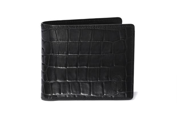 Image of A Bathing Ape CROCODILE PATTERN LEATHER WALLET