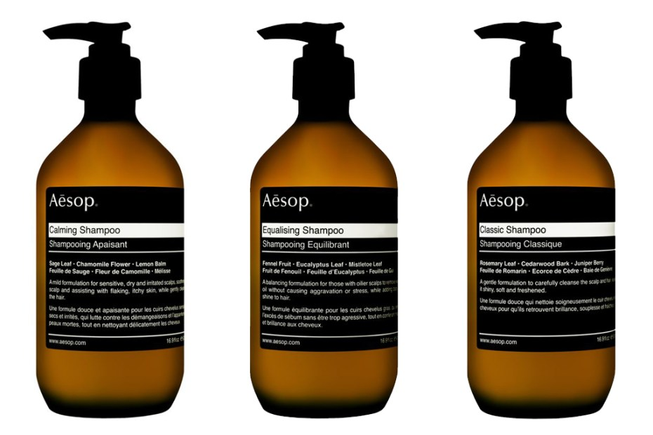Image of Aesop 2012 Black Label Hair Care Collection