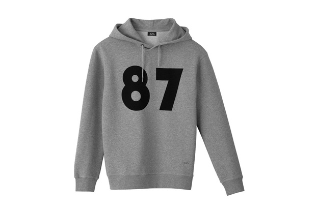 "Image of A.P.C. 25th Anniversary ""87"" Hoodie"