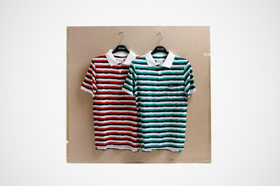 Image of Band of Outsiders 2012 Spring/Summer Striped Polo Shirts