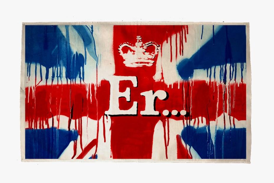 "Image of Banksy ""Er..."" Diamond Jubilee Print"