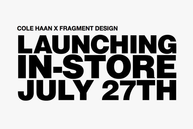 Image of Cole Haan x fragment design Announcement
