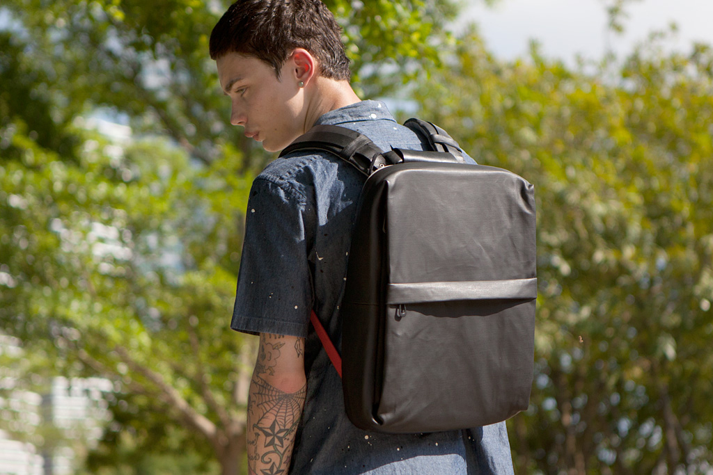 Image of Côte&Ciel 2012 Coated Techno Canvas Flat Backpack