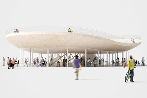 Image of Cycling Pavilion in Hainan China by NL Architects