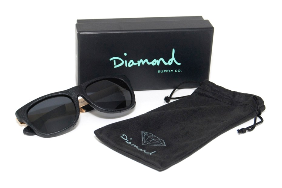 Image of Diamond Supply Co. Leather Wrapped Sunglasses