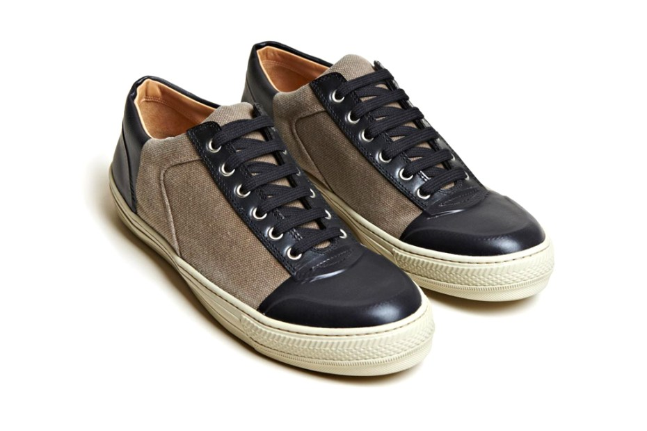 Image of Dries Van Noten 2012 Spring/Summer Canvas Vinyl Panel Shoe