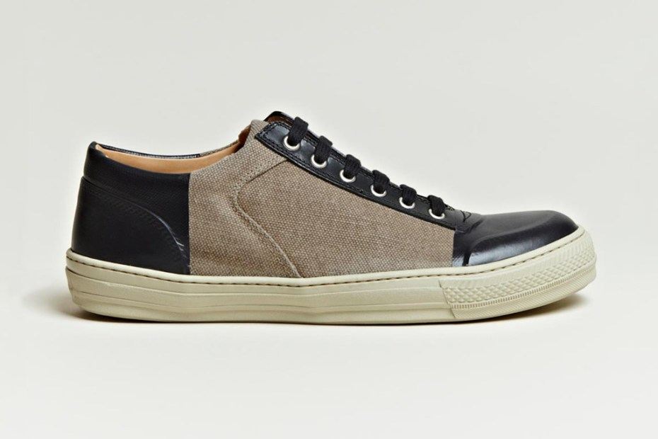 Image of Dries Van Noten 2012 Spring/Summer Canvas Vinyl Panel Shoe