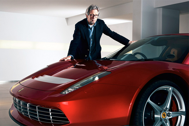 Image of Eric Clapton's Almost $5 Million Dollar Ferrari SP12 EC